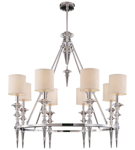 Metropolitan Walt Disney Signature Kingswell 8 Light Chandelier in Chrome w/Crystal Accents N6938-77 photo