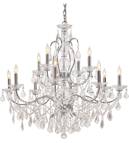 Metropolitan Signature 12 Light Chandelier in Chrome N8008 photo