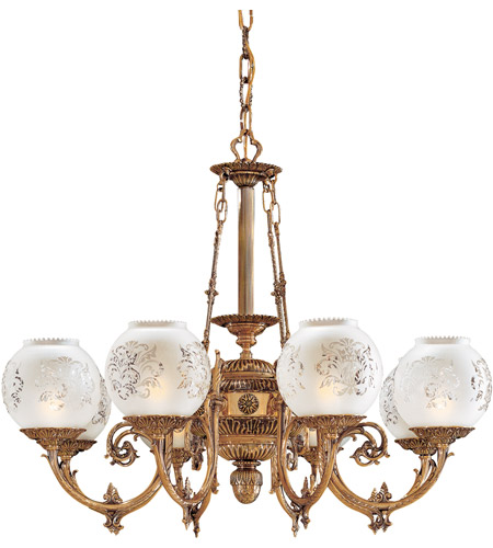 Metropolitan Signature 8 Light Chandelier in Antique Classic Brass N801908 photo