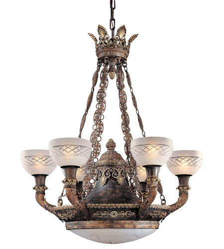 Metropolitan Signature 9 Light Chandelier in Aged Black N9003 photo