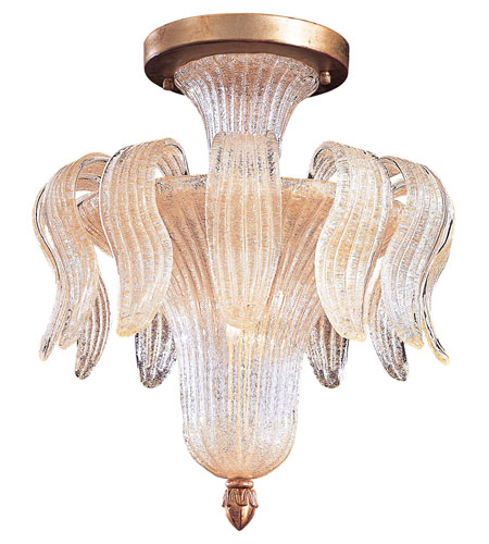 Metropolitan Vintage  4 Light Chandelier in Gold Leaf N9021 photo