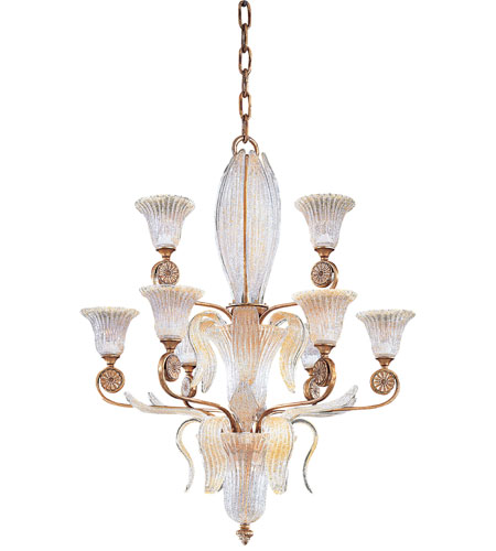 Metropolitan Vintage 9 Light Chandelier in Impeccable Gold Leaf N9023 photo