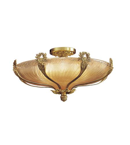 Metropolitan Vintage 8 Light Semi-flush in French Gold N9025 photo