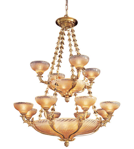 Metropolitan Vintage  24 Light Chandelier in French Gold Leaf N9029 photo