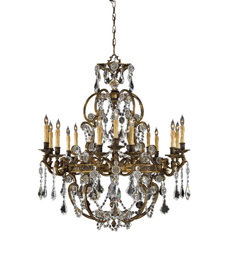 Metropolitan Vintage  15 Light Chandelier in French Gold Patina N9047 photo