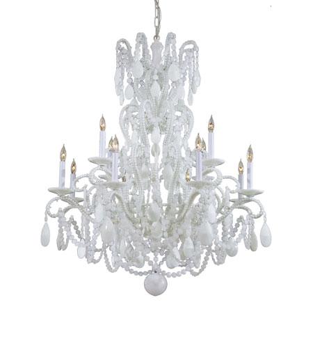 Metropolitan Vintage 12 Light Chandelier in White N9048-WH photo