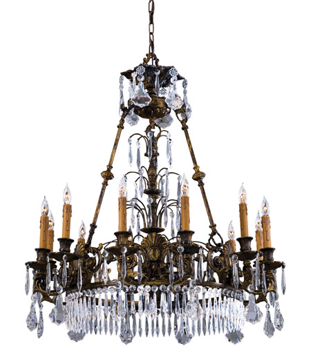 Metropolitan Signature 12 Light Chandelier in Oxide Brass N9067 photo