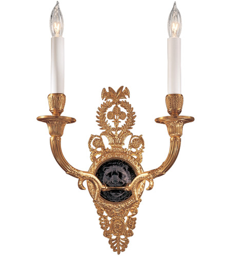 Metropolitan N9102 Signature 2 Light 11 inch Glorious Gold/Black Wall Sconce Wall Light photo