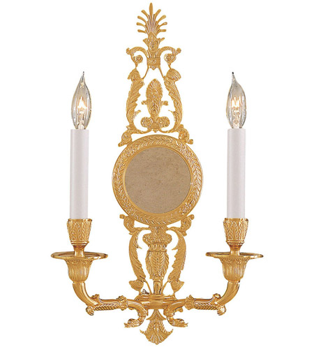 Metropolitan Signature 2 Light Sconce in French Gold N9104 photo