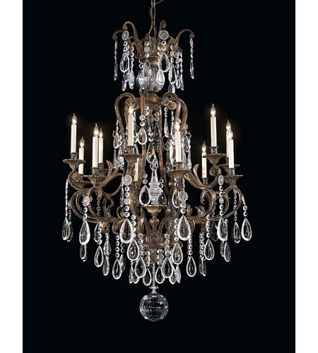 Metropolitan Signature 12 Light Chandelier in Oxidized Brass N950115 photo