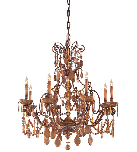 Metropolitan Metropolitan Family 8 Light Chandelier in Dark Flemish N950821 photo