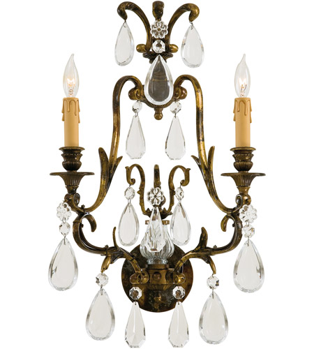 Metropolitan N952115 Signature 2 Light 14 inch Oxidized Brass Wall Sconce Wall Light photo
