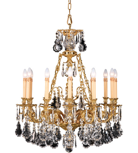 French Gold Crystals Chandeliers