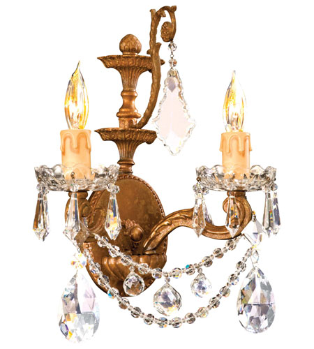 Metropolitan Vintage  2 Light Sconce in Deep French Gold N9839 photo