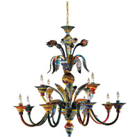 Camer 12 Light 45 inch Multicolor Chandelier Ceiling Light