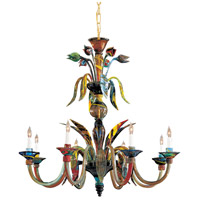 Metropolitan Camer 8 Light Chandelier in Multicolor C7056/8