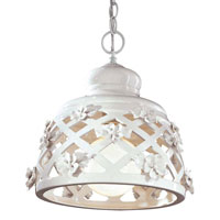 Metropolitan Signature 1 Light Pendant in White Porcelain N1084