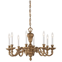 Casoria 8 Light 28 inch Vintage English Patina Chandelier Ceiling Light