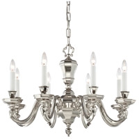 Casoria 8 Light 28 inch Polished Nickel Chandelier Ceiling Light