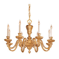 Metropolitan Signature 8 Light Chandelier in Polished Brass N1115 photo thumbnail