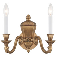 Casoria 2 Light 14 inch Vintage English Patina Sconce Wall Light