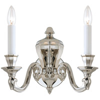 Casoria 2 Light 14 inch Polished Nickel Wall Sconce Wall Light