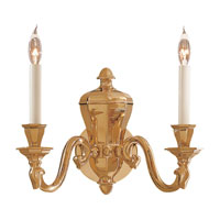 Metropolitan Metropolitan Family 2 Light Wall Sconce in Polished Brass N1118
