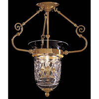 Foyer 3 Light 18 inch Polished Brass Pendant Ceiling Light