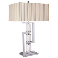 Neverland 31 inch 150 watt Chrome Table Lamp Portable Light