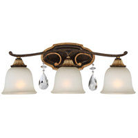 Chateau Nobles 3 Light 24 inch Raven Bronze/Sunburst Gold Bath Bar Wall Light