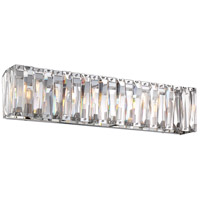 Coronette 6 Light 33 inch Chrome Bath Bar Wall Light