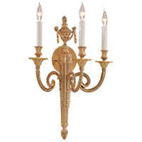 Signature 3 Light 15 inch Polished Gold Wall Sconce Wall Light