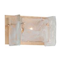 Metropolitan N1781-595 Arctic Frost 1 Light 9 inch Antique French Gold Bath Bar Wall Light