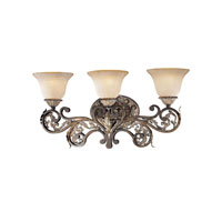 Metropolitan Jessica Mcclintock Home Romance 3 Light Bath Fixture in Ravello Bronze3 w/Gold Highlights N2023-198 photo thumbnail