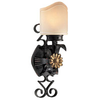 Metropolitan Montparnasse 1 Light Sconce in French Black w/Gold Highlights N2101-20