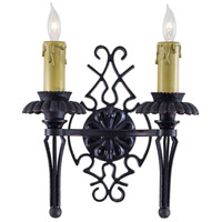 Metropolitan Montparnasse 2 Light Sconce in French Black w/Gold Highlights (shade sold separately) N2109-20