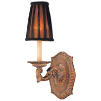 Metropolitan Mariner 1 Light Sconce in Amaretto Patina w/Silver Highlights N2180-473