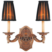 Metropolitan Mariner 2 Light Sconce in Amaretto Patina w/Silver Highlights N2181-473