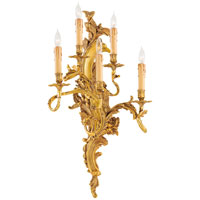 Signature 5 Light 17 inch Aged French Gold Sconce Wall Light in Right