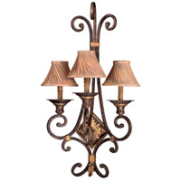 Zaragoza 3 Light 18 inch Golden Bronze Wall Sconce Wall Light