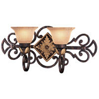 Metropolitan Zaragoza 2 Light Bath in Golden Bronze N2232-355