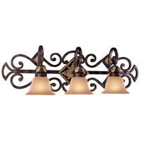 Zaragoza 3 Light 32 inch Golden Bronze Bath Bar Wall Light