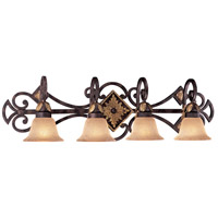 Zaragoza 4 Light 37 inch Golden Bronze Bath Bar Wall Light