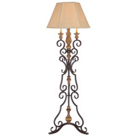 Metropolitan Hearst Castle 4 Light Floor Lamp in Monte Titano Oro N22353-159