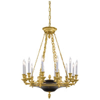 Metropolitan Signature 12 Light Chandelier in Dore Gold w/ Black Accents N2247 photo thumbnail