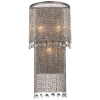 Metropolitan Shimmering Falls 3 Light Wall Sconce in Antique Silver N2273-578