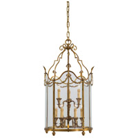 Signature 9 Light 23 inch Antique French Gold Pendant Ceiling Light