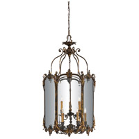 Signature 9 Light 26 inch Antique Bronze Patina Pendant Ceiling Light