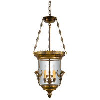 Signature 3 Light 14 inch Oxide Brass Pendant Ceiling Light