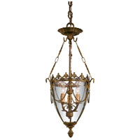 Signature 3 Light 12 inch Oxide Brass Pendant Ceiling Light
